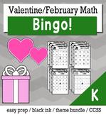 Valentines Math Kindergarten BINGO Game Bundle