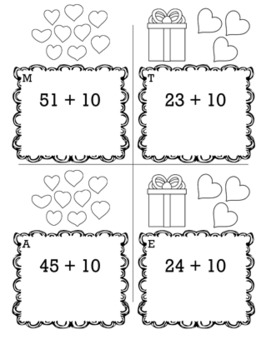 Valentines Math Kindergarten Scavenger Hunt Game Bundle