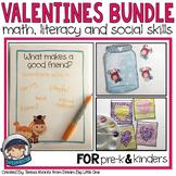 Valentines Math, Literacy, Social Skills Activities for pr