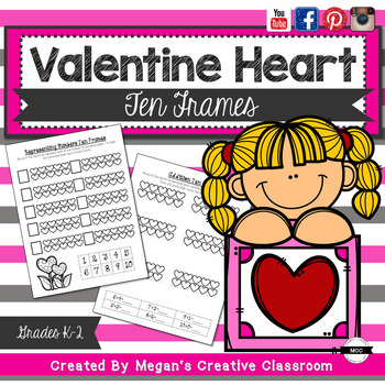 Valentines Math NO PREP Base Ten Frames {#2017dollardeals}
