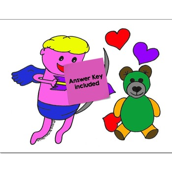 Least Common Multiple (LCM) Math Practice Valentines Color by Number