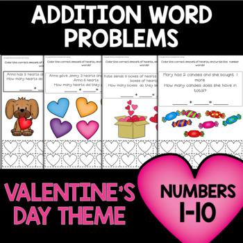 Valentine's Math Problems 1-10