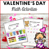 Valentine's Day Math Centers number work activities
