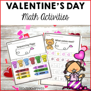Valentine S Day Math Centers Number Work Activities By Tech Teacher Pto3