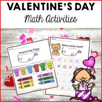 Valentines Day Maths Activity Pack - Math Number Work