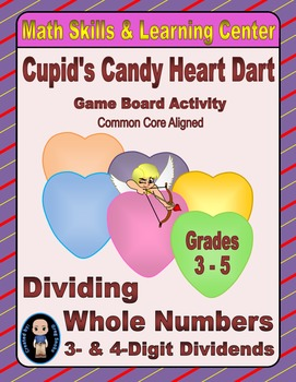 Valentine's Math Skills & Learning Center (Division with 3- & 4-Digit Dividends)
