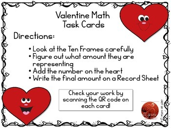 Valentine's Math Task Cards - DUAL Language Friendly