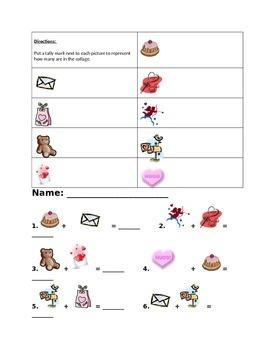 Valentine's Math Worksheet