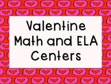 Valentines Math and ELA centers