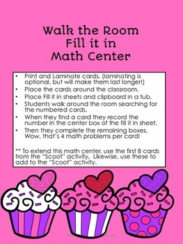 Math and Literacy Centers - Valentine's Theme