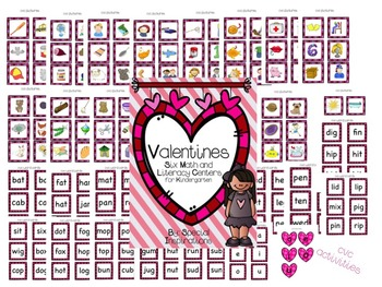 Valentines Math and Literacy Centers