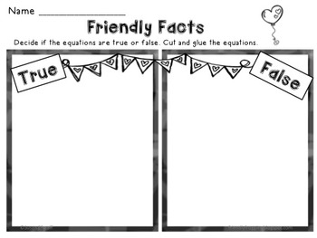Math Tubs - Friendly Fact Families - Valentine Themed