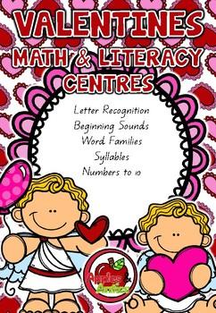 Valentines Math and Literacy Centre BUNDLE