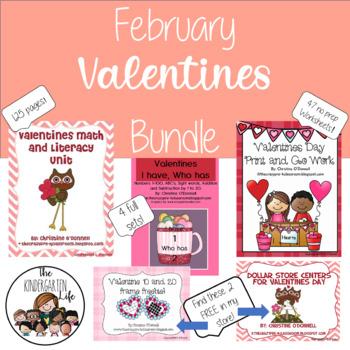 Valentines Math and Literacy Mega Bundle