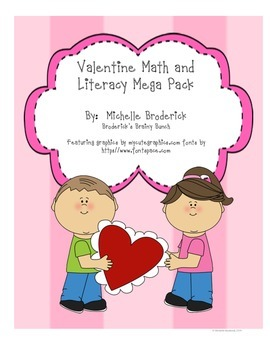 Valentine's Math and Literacy Pack