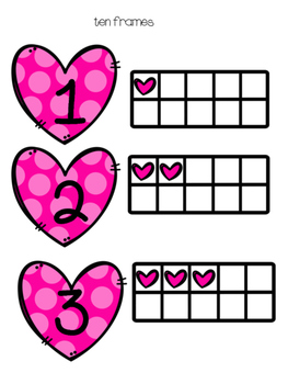 Valentines Measurement and Ten Frames Centers
