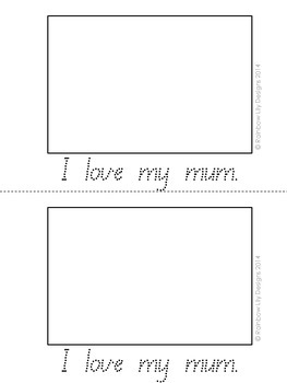 Valentine's Mini Booklets - I love...Queensland Print