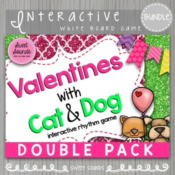 Valentines with Cat and Dog Double Pack {Interactive Games}