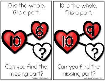 Valentines Missing Number Bond Interactive Books