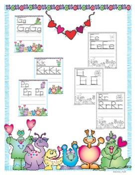 Valentines Monsters Alphabet Tracing and Writing (Common Core)
