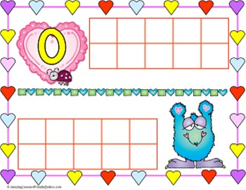 Valentines Monsters Counting Mats and Sheets