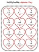 Valentine's Multiplication 1 digit by 1 digit and 2 digit