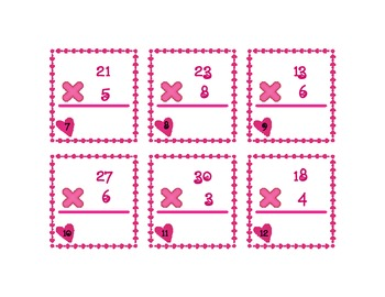 Valentine's Multiplication Cards #2