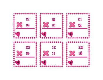 Valentine's Multiplication Cards #3