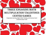 Valentine's Multiplication Games- Story problems, Basic Facts, 2 digit by 1