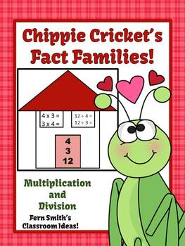 St Valentine's Day Multiply and Divide Fact Families Center Game and Printables