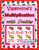 Multiplication Facts with Doubles Activity - Valentine 's Day Math