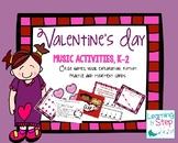 Valentines Music Activities, K-2nd
