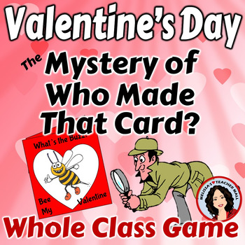 Valentine's Day Game Make a Card Guess Who Made the Card Game
