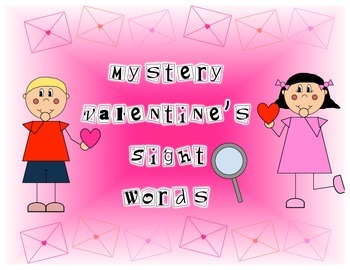Valentine's Mystery Sight Words