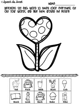 Valentine's NO PREP Articulation Activities: Early Developing Sounds