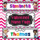 Valentines Name Tags - editable