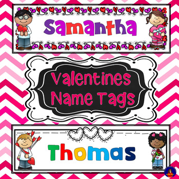 Valentines Name Tags - editable
