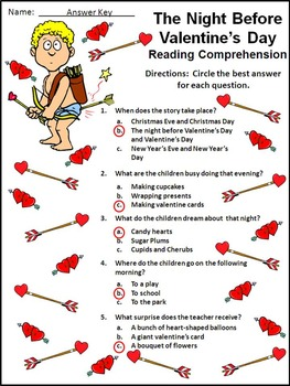 Valentine's Day Activities: The Night Before Valentine's Day Activity Packet