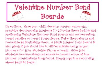 Valentine's Number Bonds