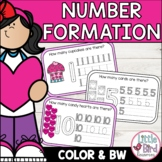 Valentines Number Formation Practice - Numbers 1 - 10