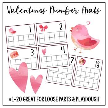 Valentines Number Mats TAPIS DE NUMÉROS