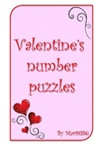 FREE - Valentine's hearts cut & match numbers 0-10