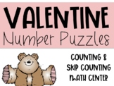 Valentine's Number Puzzles: Counting & Skip Counting Center