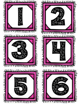 Valentine's Number Sense (# 1-20) Match Activities