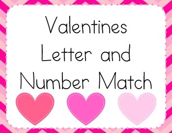 Valentines Number and Letter Match