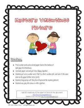 Valentines Numbergrid Activity
