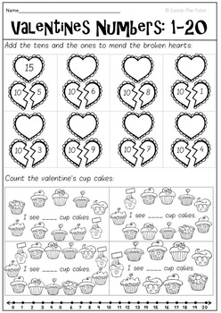 Valentine's Numbers: Counting to 20 Freebie