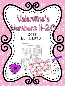 Numbers 11-20 Valentine's Day Edition