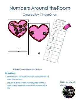 Valentines - Numbers Around the Room