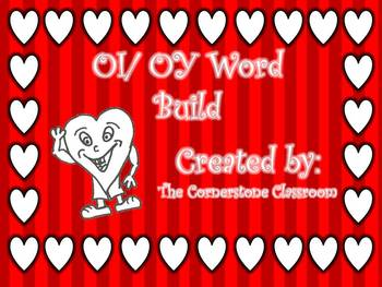 Valentines OI/ OY LIteracy Center Word Build